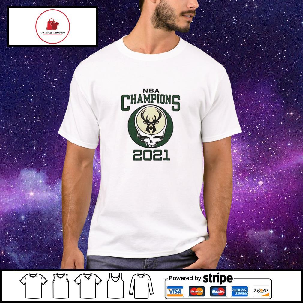2021 NBA Champions Grateful Dead Milwaukee Bucks shirt