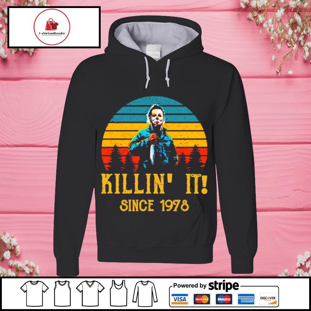Horror Killin' it since 1978 vintage s hoodie