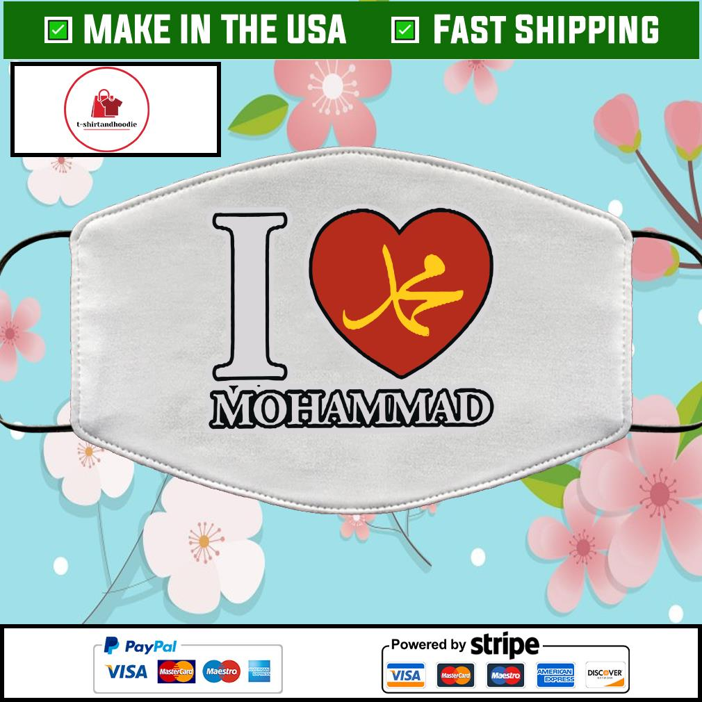 I Love Mohammad Cloth Face Mask Washable