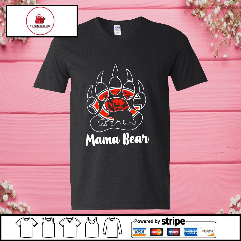 Mama bear Chicago s v-neck-t-shirt