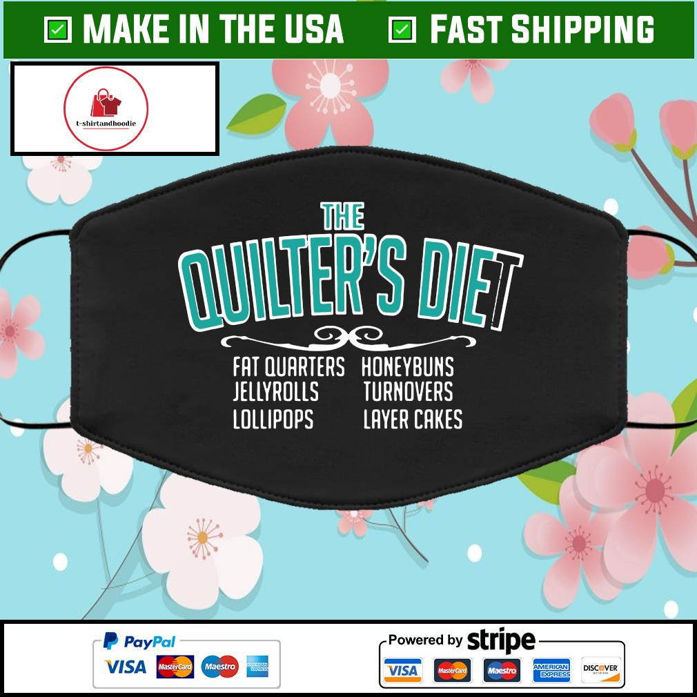 The quilter's diet fat quarters Face Mask Washable
