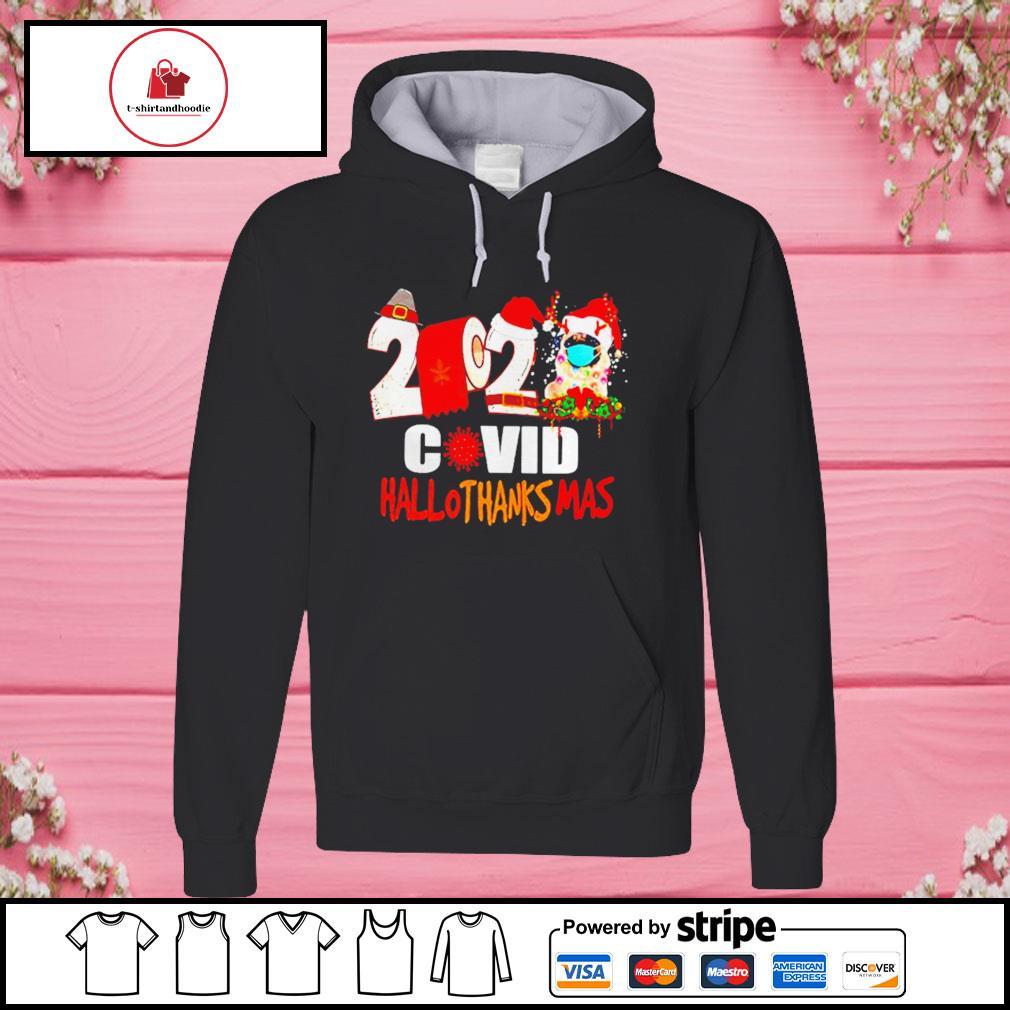 2020 Pug Covid Hallothanksmas s hoodie