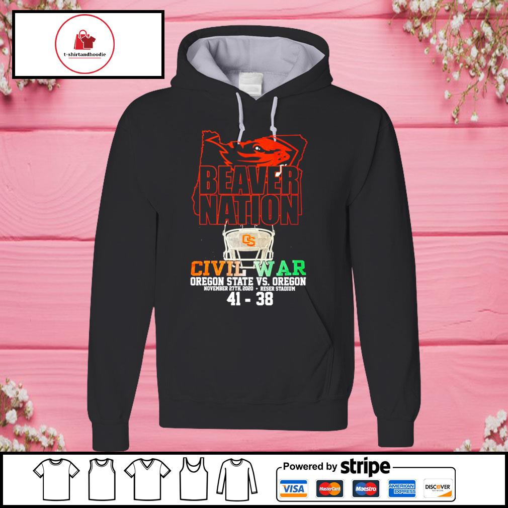 Beaver nation civil war oregon state vs oregon s hoodie