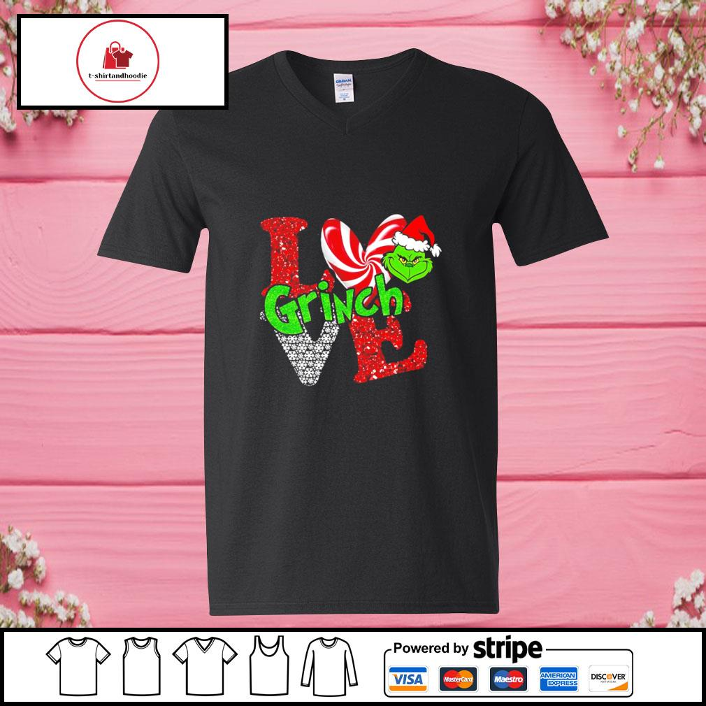 LGBT I love Grinch Christmas s v-neck-t-shirt