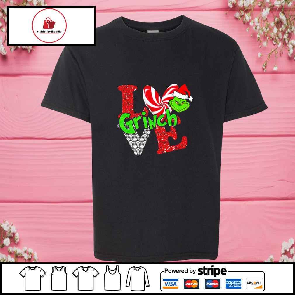 LGBT I love Grinch Christmas s youth-tee