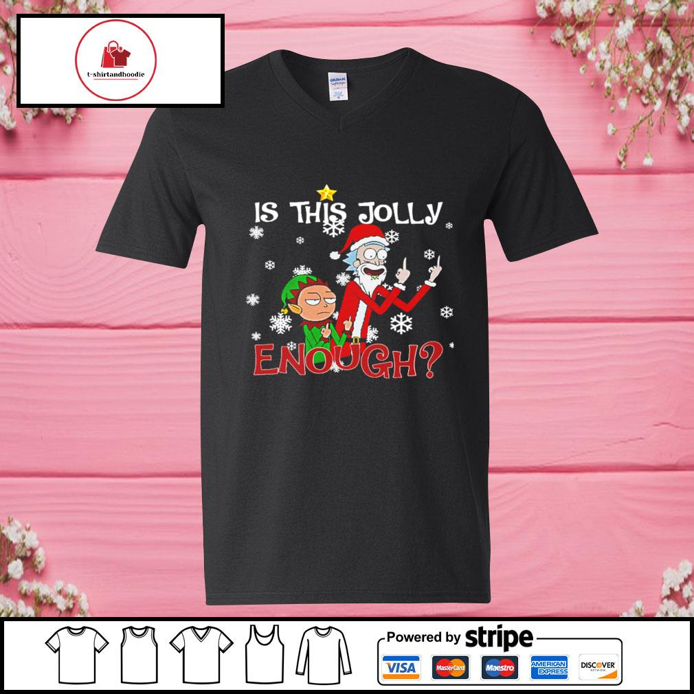Rick and morty is this jolly enough Christmas s v-neck-t-shirt